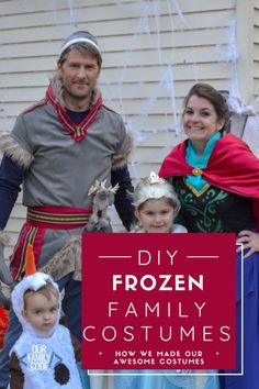 How to Make the Cutest Frozen Family Costume! #Frozencostumes #familyhalloweencostumes #halloweencostumesforkids #besthalloweencostumesforkids #elsacostume #annacostume #elsaandannacostumes #kristoffcostume #olafcostume #bestfamilyhalloweencostumes Frozen Halloween Costumes, Frozen Costume, Halloween Crafts, Halloween Couples, Group Halloween, Halloween 2019, Halloween Ideas, Disney Halloween, Halloween Party