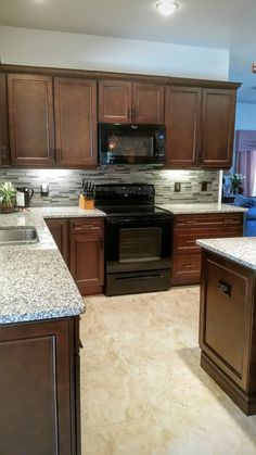 (The Bowman Kitchen AFTER) York Chocolate Cabinetry, ORB Hardware By Top  Knobs,