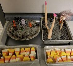 Candy Corn Fudge and Graveyard Apple Crisp