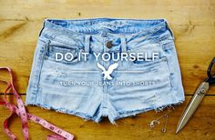 DIY: Turn your AEO Jeans Into Shorts