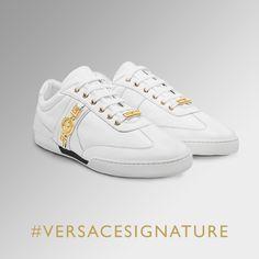 Impressive sneaker addiction. Find more #VersaceSignature sneakers on versace.com #VersaceSneakers