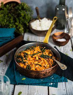 Vegan Recipes, Vegan Food, I Foods, Seafood, Curry, Good Food, Veggies, Tasty, Dinner