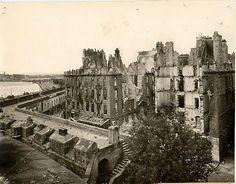 Saint-Malo, Bretagne (1944)  uma das mais bombardeadas durante a segunda guerra.