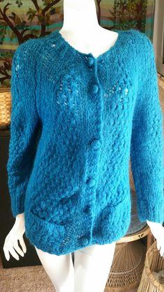 40bbe195c2 60 s Italian Mohair Cardigan Sweater Italian Wool Mohair Sweater