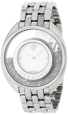 Versace Women's Destiny Spirit Steel Bracelet Silver Indexes Watch: Women's #Fashion #Watches