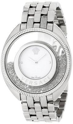 Versace Women's Destiny Spirit Steel Bracelet Silver Indexes Watch: Women's #Fashion #Watches