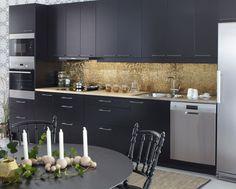 Populärt kök - Solid svart   Ballingslöv