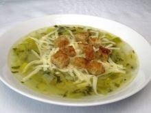 Pórová polievka so syrom