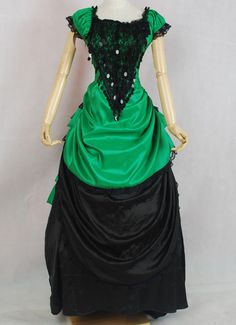 Customized-2016-Hot-Sale-Green-And-Black-Green-And-Black-Victorian-font-b-Bustle-b-font.jpg (500×689)