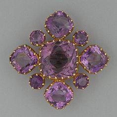 A 19th Century amethyst brooch
