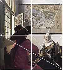Vermeer - Diagonals to mid-points and Diagonals joining mid-points