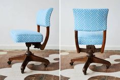 Vintage chair recovered a la Chairloom