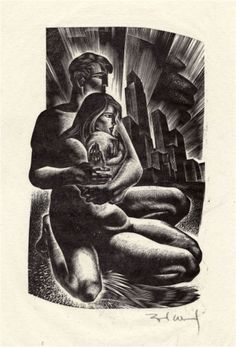 Figure 45: Original illustration from Song Without Words by Lynd Ward