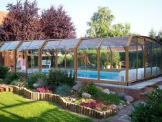 Pool enclosure OCEANIC - high in the middle of your garden... not bad at all