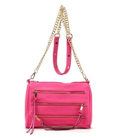 Another great find on #zulily! Rose Zipper-Accent Crossbody #zulilyfinds