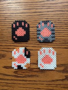 Cat Paw Perler bead sprite by CutesNBootsCrafts on Etsy