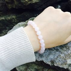 Healing bracelet rose quartz Natural rose quartz by DRISAIN