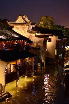 Hangzhou Wuzhen (Ancient Water Town) Zhejiang China where many canals were connected. Hangzhou, Chinese Architecture, Ancient Architecture, Vietnam, Shanghai, Places Around The World, Around The Worlds, Places To Travel, Places To Visit