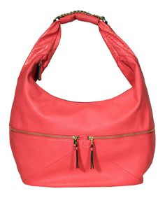 Take a look at this Coral Fearless Hobo by Jessica Simpson Collection on #zulily today!