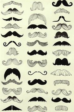 Mustaches...some of these look like wings in a Victoria's Secret Fashion Show.