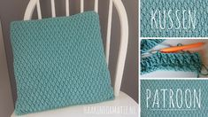 A free crochet pattern of a pillow. Do you also want to crochet this pillow. Read more about the free crochet pattern pillow. Knitting Patterns, Crochet Patterns, Crochet Squares Afghan, Crochet Market Bag, Afghan Blanket, Crochet Flowers, Flower Patterns, Free Crochet, Pillows