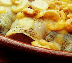 Plaice With Bananas - I substituted pine nuts for the almonds.