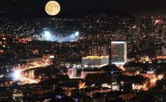Fool moon over Sarajevo