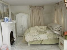 bedroom, complete with Charleston picture over the fireplace, McClellanville Cottage on Jeremy Creek