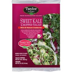 Buy Taylor Farms Sweet Kale Chopped Kit with Poppyseed Dressing oz bag) online and have it delivered to your door in as fast as 1 hour. Your first delivery is free. Try it today! See terms. Cooking For One, Easy Cooking, Healthy Cooking, Cooking Tips, Cooking Recipes, Healthy Recipes, Healthy Options, Healthy Meals, Healthy Food