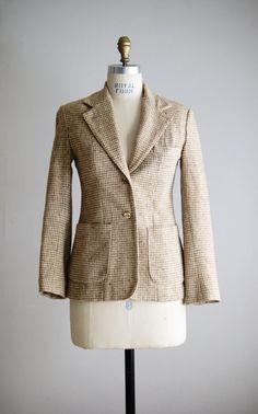 1970s OAT SEED tweed wool jacket