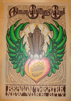 2009 Allman Brothers Band - NYC Concert Poster by Jeff Wood