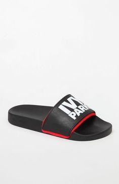 01f3fbbc054759 Stack Logo Neoprene Slide Sandals Slide Sandals