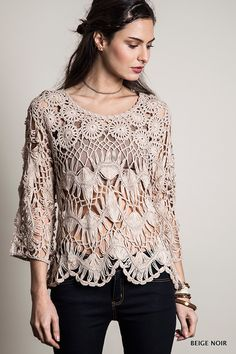 Oversized Knit Tunic Top