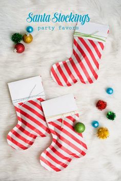 Confetti Sunshine: DIY Santa Stocking Party Favors