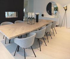vind-ik-leuks, 66 reacties - Modern Home Dining Room Design, Dining Room Table, Dining Area, Home Living Room, Interior Design Living Room, Living Room Decor, Dining Room Inspiration, House Styles, Kitchen