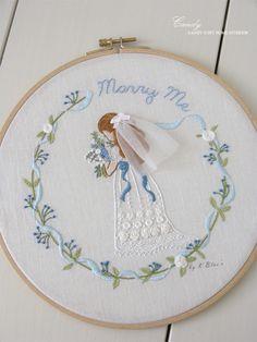 """케이블루의 동화같은 프랑스자수 중 """"메리미"""" 블루톤이 차분하고 이쁘다~ 내가 좋아하는 블루~~ <작업 ..."""