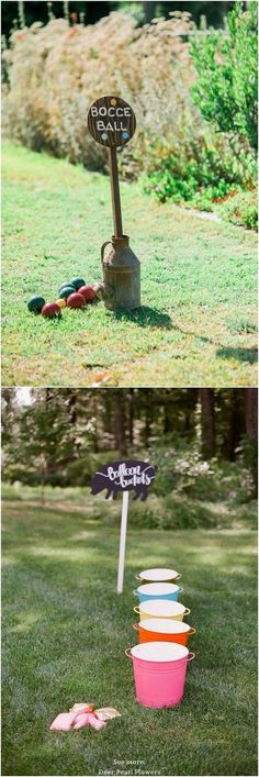 Outdoor Wedding Reception Lawn Game Ideas