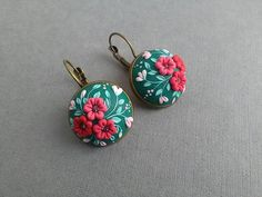 Check out this item in my Etsy shop https://www.etsy.com/listing/514696901/filigree-polymer-clay-earringsfloral