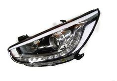 Projector Headlights LED DRL for Hyundai Accent Solaris 2011 2012 2013 2014