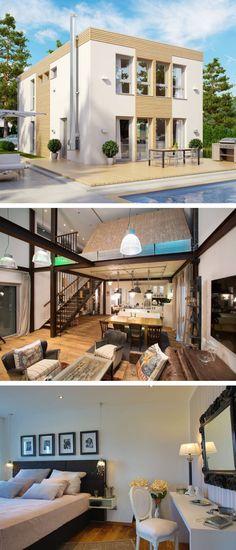 Modernes Flachdach Haus Mit Galerie Und Loft Einrichtung   Architektur  Einfamilienhaus ELK Looft Von ELK