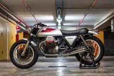 Muy guapa la Moto Guzzi SP1000 ''Quattrotempi'' #BratStyle by Officine Rossopuro #motorcycles #motos | caferacerpasion.com
