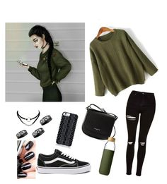 """""""#outfit #inspiration. by a drawn"""" by aura-helena on Polyvore featuring Topshop, WithChic, Savannah Hayes, Chanel, Lancaster, Vans, Soma, outfit and inspiration"""
