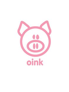 Pig Oink print by Cathie Urushibata This Little Piggy, Little Pigs, Tout Rose, Pig Pen, Mini Pigs, Cute Piggies, Pig Party, Flying Pig, Cute Illustration