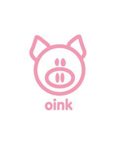 Pig : oink Art Print