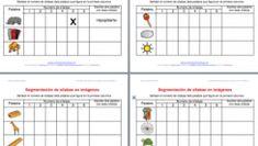 Actividades dislexia Segmentación de palabras en imágenes Dejamos Plantilla editable