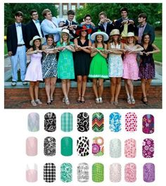 Bride nails: Fun wedding idea! Jamberry Nails for the bride, bridal party, flower girls and mother of the bride (or groom)! Easy yet elegant nail design for your wedding day. Nail Art Studio: Design your own nails to match your flowers and compliment your wedding ring perfectly.