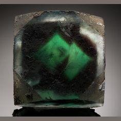 Fluorite with phantom, Namibia