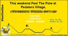 This weekend Feel The Flow at Pedalers Village, Awesomeness Weekend Bootcamp. #feeltheflow #Awesomeness #weekend #bootcamp #norain