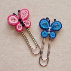 Quilled clips