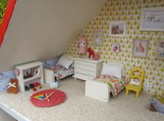 the details in this dollhouse are amazing and mostly cheap DIY!!! sewpony: The Dollhouse!!